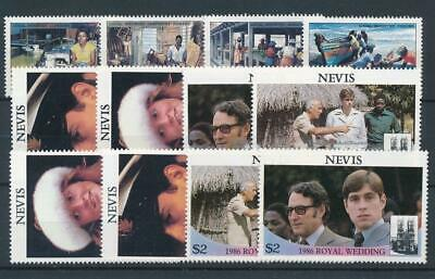 [15651] Nevis : Good Lot of Very Fine MNH Stamps