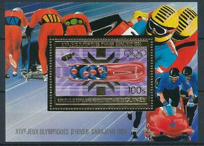[16084] Guinea 1983 : Olympics - Good Very Fine MNH Sheet With Gold Stamp