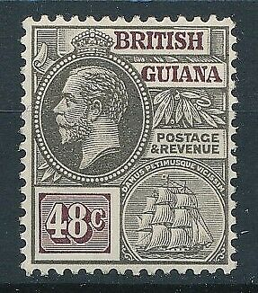 [51371] British Guiana 1921-27 good MH Very Fine Signed stamp