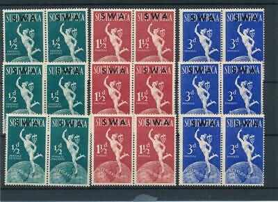 [51670] South-West Africa 1949 UPU 3x good set MNH Very Fine stamps