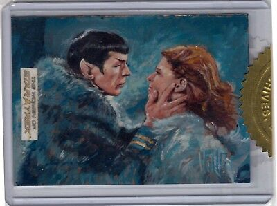 WOMEN OF STAR TREK 50th ANNIVERSARY 9-Case Incentive Sketch Card by Charles Hall