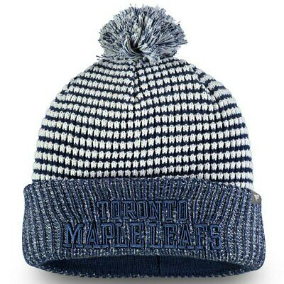 08f23f83211be Toronto Maple Leafs Fanatics Branded Waffle Heavy Cuffed Knit Hat With Pom -