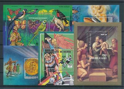 [G47872] Guinea : Good Lot of 5 Very Fine MNH Sheets