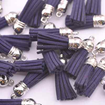 10pcs Montana Silver-Tone-Metal-Top-Tassels-Terylene-Velvet-Pendant-for-jewer