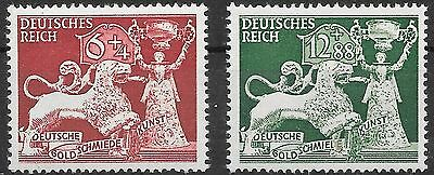 Nazi Germany 3rd Reich Mi# 816-817 MH 10th anniversary of Goldsmith 1942 *