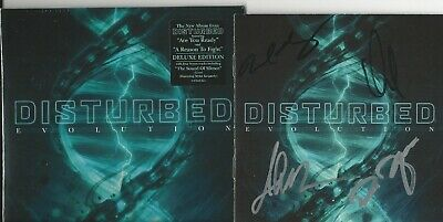 Disturbed - Signed Evolution Deluxe Version CD Brand NEW Sealed