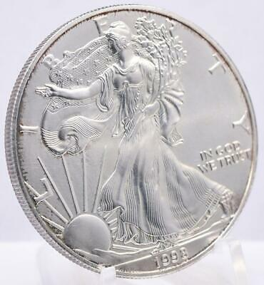 1998 American Silver Eagle 1 oz Coin US $1 Dollar Walking Liberty