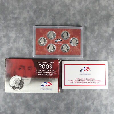 2009-S US Mint Silver Quarters Proof Set OGP COA 6 Blemish-free Coins