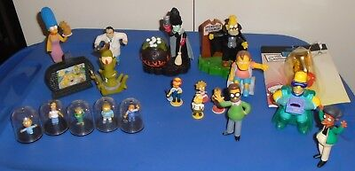 19 different Simpsons mini Action Figures, loose