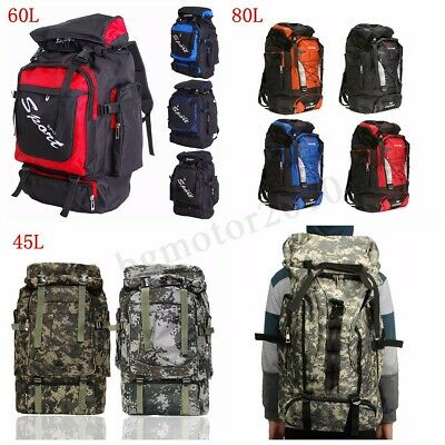 60L/80L Outdoor Military Rucksacks Tactical Bag Camping Hiking Trekking