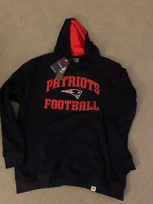 New England Patriots Football Fanatics Branded Mens Hoodie Sweatshirt Tom Brady