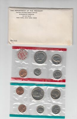 1972 US Mint Set In OGP Envelope 11 Clean Blemish-free coins P D & S