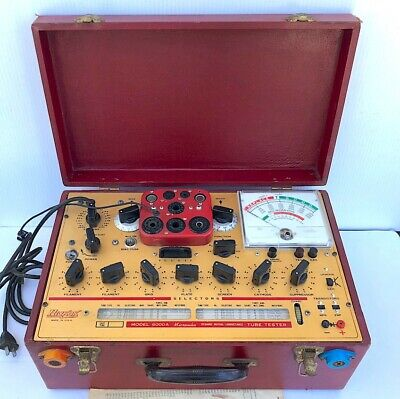 Hickok Model 6000A Dynamic Mutual Conductance Tube Tester, + Transistor & Diode