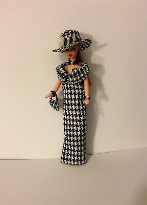 Custom Topper Dawn Doll ~Classy in Houndstooth Evening Gown Ensemble!~