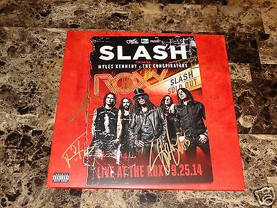 Slash & Myles Kennedy Signed Live At The Roxy Vinyl LP Record Guns N' Roses COA