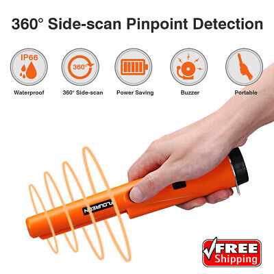 Waterproof Metal Detector Pin Pointer Coil Gold Treasure Hunting Finder w/LED