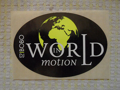 * * * * * DJ BOBO - world in motion * * * * * Aufkleber