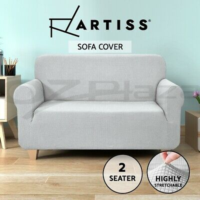 Artiss High Stretch Sofa Cover Couch Lounge Protector Slipcovers 2 Seater Grey