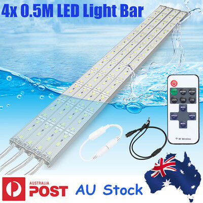 4x 12V 5630 LED Strip Light Bar Waterproof Cool White Car Camping Boat + Remote