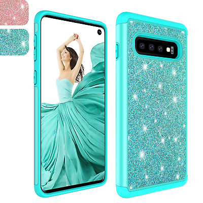 For Samsung Galaxy S10/S10+ Plus/S10e Bling Glitter Armor Hard Phone Case Cover