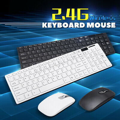 2.4Ghz Wireless Keyboard And Mouse Set For PC Macbook Smart Box TV Computer New