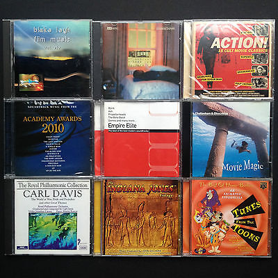 9-CD Soundtracks Job Lot Hanna-Barbera Oscars Empire [Indiana Jones] Carl Davis