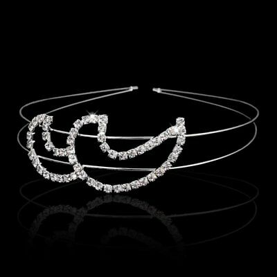Women Wedding Bridal Crystal Moon Headband Shiny Hairband Queen Party Gift New
