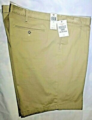 Dockers Perfect Short Big & Tall Pleated Shorts Beige Size 52 Free S/h
