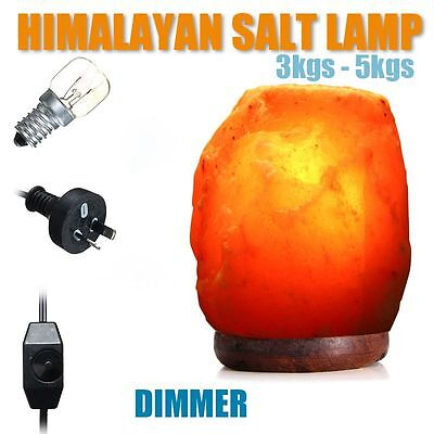 Himalayan Salt Lamp Natural Crystal Rock Shape Dimmer Switch Night Light 1-7 kg