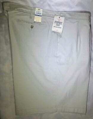 Dockers Perfect Short Big & Tall Pleated Shorts Ivory Size 48W Free S/h