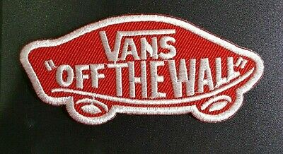 Logo of VANS off The Wall Embroidered applique iron on Patch