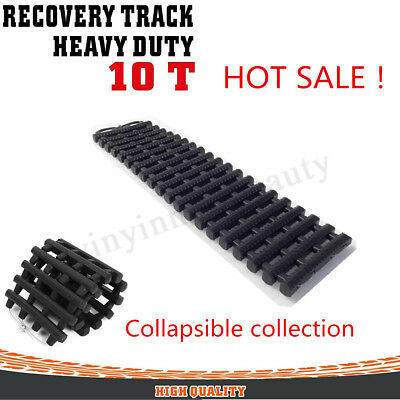 Black 10T Recovery Tracks Off Road 4x4 4WD Car Snow Mud Sand Track 10 Ton
