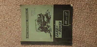 Vintage Land Rover 86 and 107 Instruction Manual 1953 Original Owners Manual