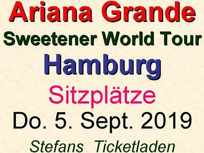 Ariana Grande 2 x 2 Sitzplätze Do. 5. Sept. 2019 Hamburg - World Tour 2019 Bl O3