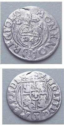 EARLY 17th CENTURY SILVER HAMMERED COIN FROM POLAND
