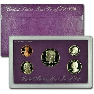 1991 S US Mint Proof Coin Set With C.O.A. And Original Government Packaging