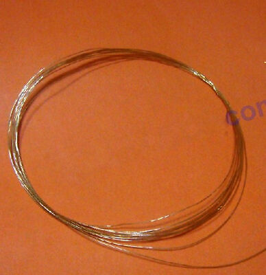 One Piece Pure 99.99% Purity Gold Au Metal Wire Diameter 0.1mm, Length 100mm