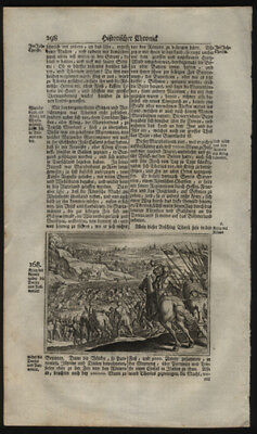Woodcut of Great Illyrian Revolt Roman War 1743 History of The German People