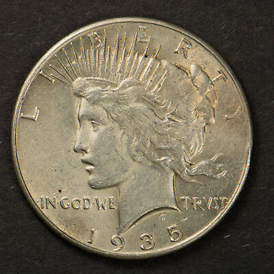 1935 PEACE $1 Silver DOLLAR ** BETTER DATE Lot#F278CH