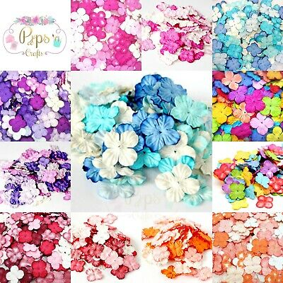 Beautiful Mulberry Paper Hydrangea Flowers 25mm Blooms Crafts Assorted Colours