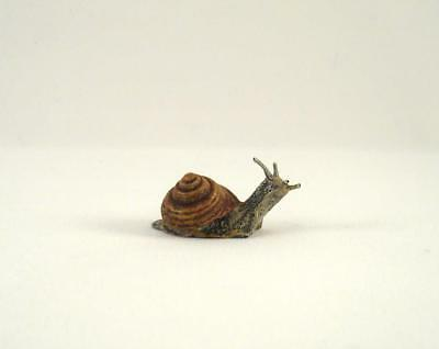 Franz Bergmann Vienna Austria Small SNAIL 33mm Cold Painted Bronze Brass