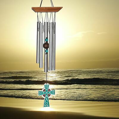 Grace Note Wind Chime Himalayan Echo Small 36 inch Powder Coated Aluminum,3SRed
