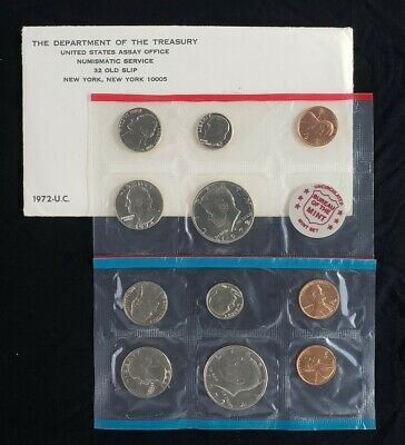 1972 US Mint P,D,S Uncirculated 11pc Coin SetWith Original Government Packaging