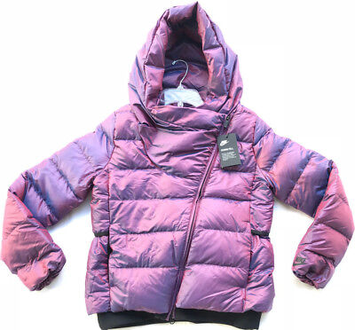 317b8c66cc85 Nike NSW Down Fill Puffer 854767-609 Iridescent Hooded Jacket Coat Women s  XS