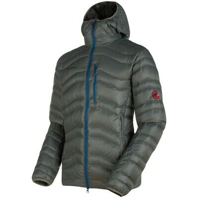 Mammut Mens Broad Peak In Hooded Jacket Titanium/ultramarine (X-Large)