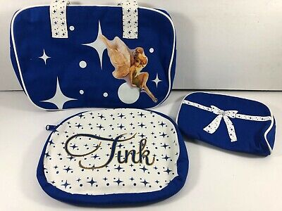 New 2009 Lot of Three Disney TINKER BELL Cosmetic Travel Cases
