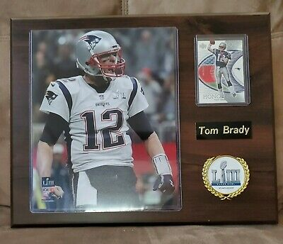 cf4ae18d66c New England Patriots Super Bowl LIII Champions Team Football Plaque