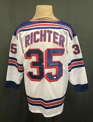 3d7e1c4c107 Mike Richter  35 Signed NY Rangers Jersey Autographed Sz XL JSA WITNESSED  COA