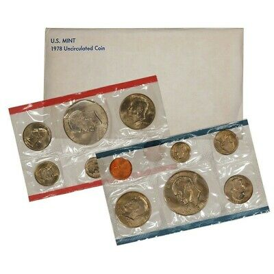 1978 US P&D 12 Coin Mint SetWith Original Government Packaging