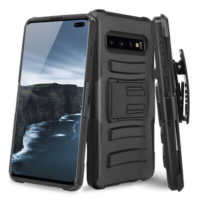 For Samsung Galaxy S10/Plus/S10e Rugged Armor Stand Phone Case Belt Clip Holster